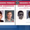 Steven Anderson and David Williams FBI missing posters